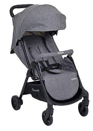Carrinho de Bebê Genius (até 15 kg) - Cinza - Burigotto
