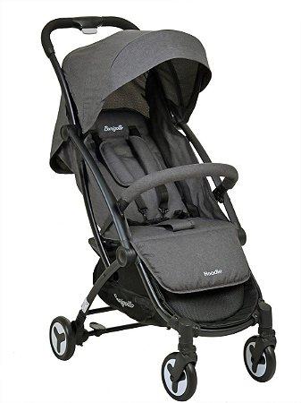 Carrinho de Bebê Hoodie (até 15 kg) - Cinza - Burigotto