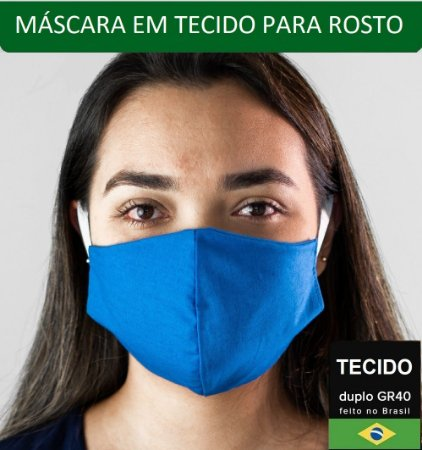 Mascaras Higiênicas de Tecido com Dupla Face 50 unidades