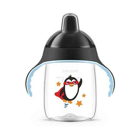Copo Pinguim 330ml (+6M) - Preto - Philips Avent