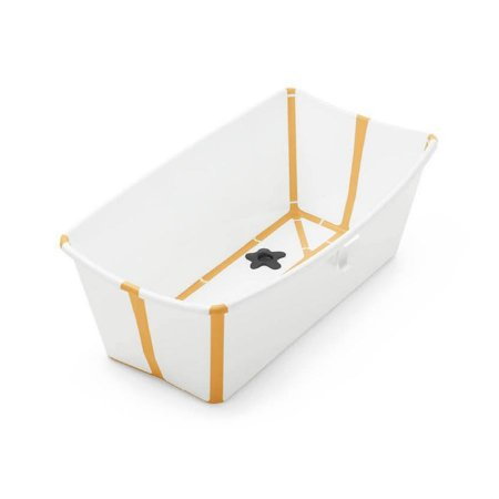 Banheira Flexível com Plug Térmico (até 4 anos) - Amarelo - Stokke