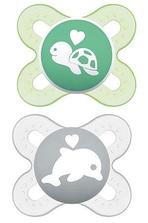 2 Un. Chupeta Start Tam.1 (+0M) - Tartaruga e Golfinho - MAM
