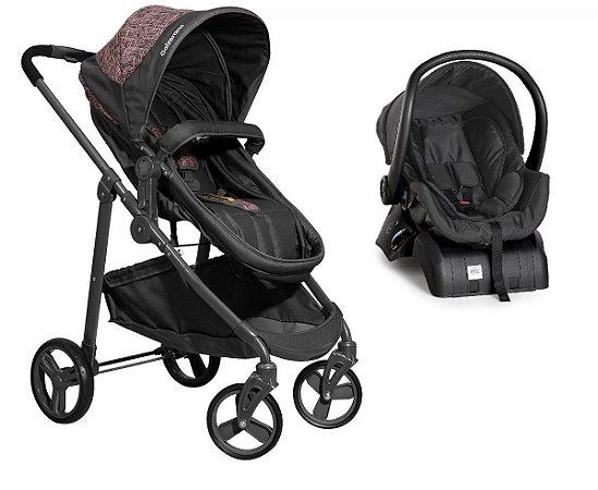 Carrinho de Bebê Travel System Olympus com Base (até 15 kg) - Rosa - Galzerano