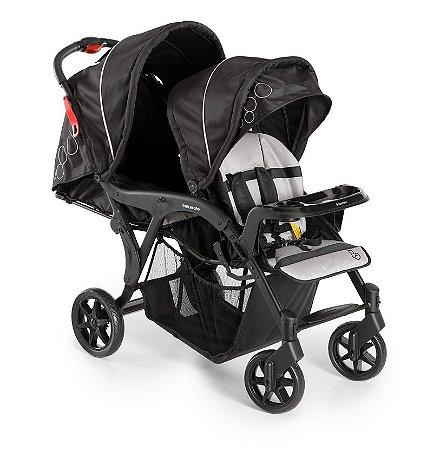 Carrinho para Bebês Gêmeos Denver Duo Preto - Galzerano