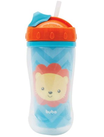 Copo Parede Dupla Animal Fun 320ml (12m+) - Leão - Buba