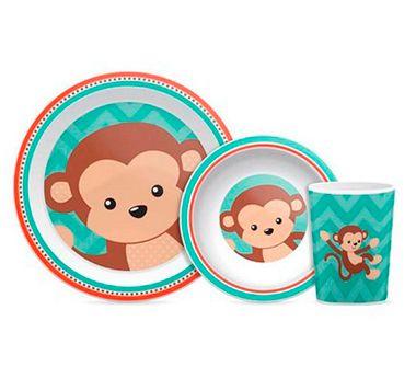 Conjunto de Refeição (+12M) - Macaco - Buba