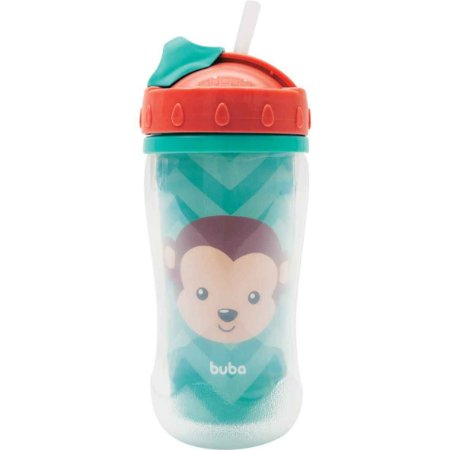 Copo Parede Dupla Animal Fun 320ml (12m+) - Macaco - Buba