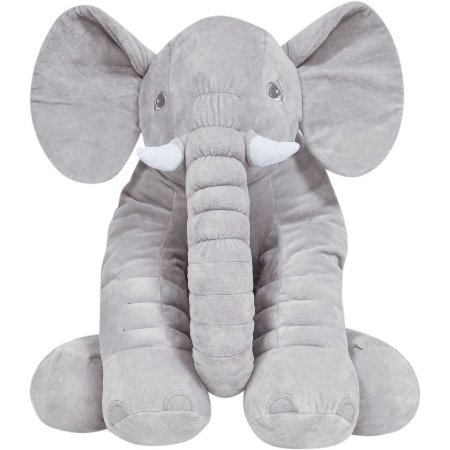 Almofada de Elefante Gigante - Cinza - Buba