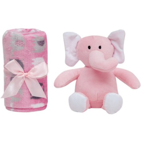 Gift Manta com Pelúcia Elefantinho Rosa (0m+) - Buba