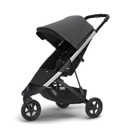 Carrinho de Bebê Spring Shadow Grey Chassi Aluminio - Thule