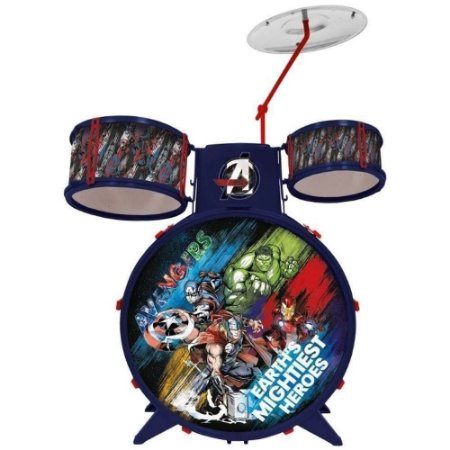 Bateria Acústica Infantil Vingadores - Marvel - Toyng