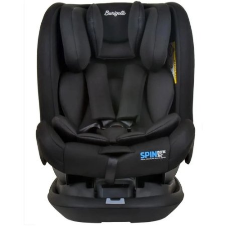 Cadeira para Auto Spin 360 com Isofix (até 36 kg) - Preto - Burigotto
