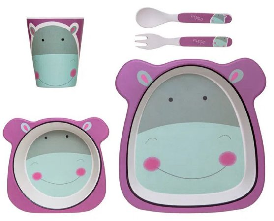 Conjunto de Alimentação Eco (+6M) - Hipopótamo - Girotondo