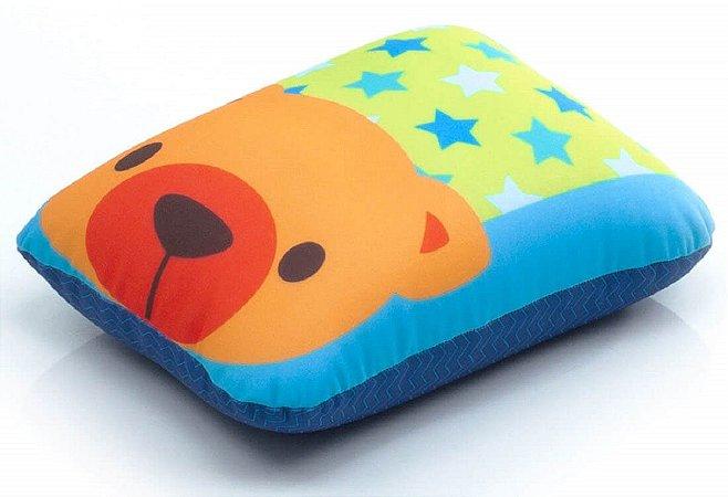 Travesseiro Multiuso (+3M) - Urso Azul - Infanti