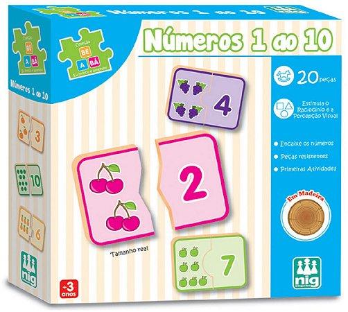 Jogo Educativo de Encaixar (+3 anos) - Números do 1 ao 10 - NIG Brinquedos