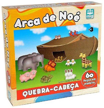 Quebra-Cabeça 60 Peças (+3 anos) - Arca de Noé - NIG Brinquedos