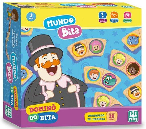 Dominó Infantil (+3 anos) - Mundo Bita - NIG Brinquedos