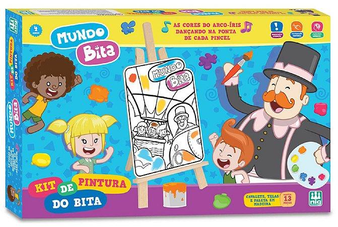 Kit de Pintura (+4 anos) - Mundo Bita - NIG Brinquedos