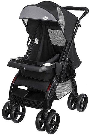 Carrinho de Bebê Uper Preto (Até 15 Kg) - Tutti Baby