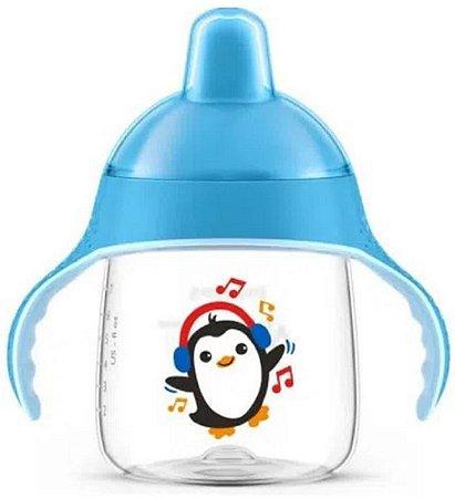 Copo Pinguim Azul 260ml - Avent