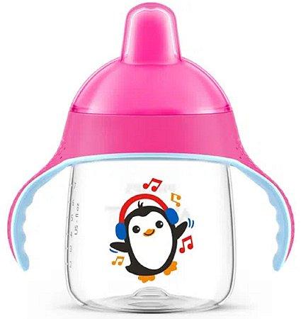Copo Pinguim 260ml (+6M) - Rosa - Philips Avent