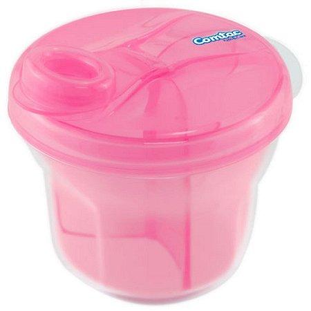 Dosador de Leite Em Pó e Porta Biscoitos - Rosa - Comtac Kids