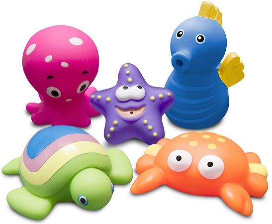 Brinquedos Para Banho Animais Marinhos - Comtac Kids