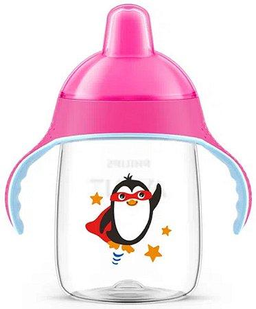 Copo Pinguim Rosa 330ml - Philips Avent