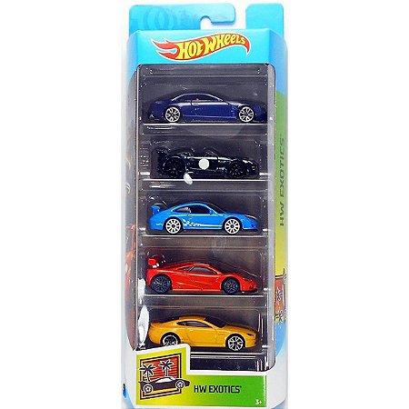 Conjunto 5 Carros Hw Exotics Hot Wheels - Mattel