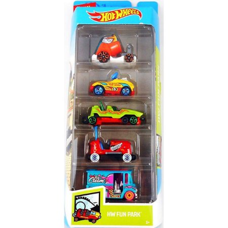 Conjunto 5 Carros Hw Fun Park Hot Wheels - Mattel