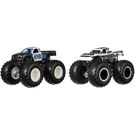 Monster Trucks Police VS Hooligan Hot Wheels - Mattel