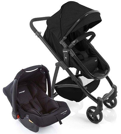 Carrinho de Bebê Travel System Vip Duo (até 15 kg) - Preto - Voyage