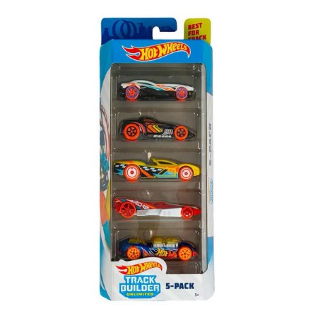 Conjunto de Carros Track Builder (+3 anos) - Hot Wheels - Mattel