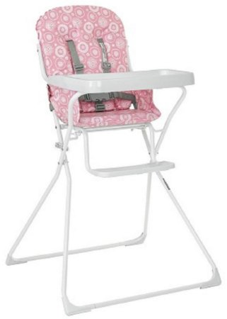 Cadeira de Alimentação Bambini (até 15 kg) - Rosa - Tutti Baby