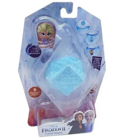 Mini Figura Colecionável Cristal Mágico Frozen Elsa - Toyng