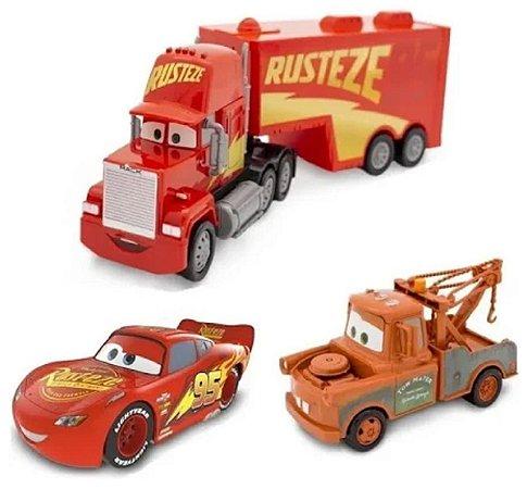 Conjunto de Carrinhos McQueen, Mack e Mate (+3 anos) - Carros - Disney - Toyng