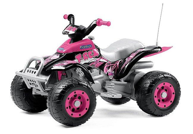Quadriciclo Elétrico Corral T-Rex 12 volts Pink - Peg-Pérego