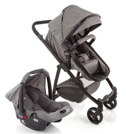 Travel System Vip Duo Cinza Mescla (0 à 15 Kg) - Voyage