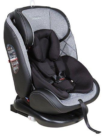 Cadeira de Carro Gaia com Isofix (até 36 kg) - Cinza e Preto - Galzerano