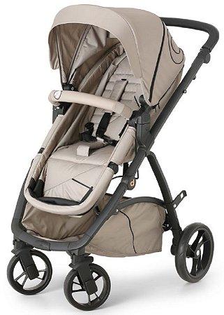 Carrinho de Bebê Maly Beige Black (Até 15 Kg) - Dzieco