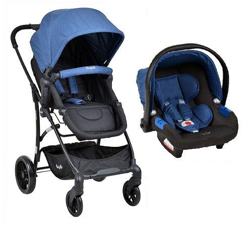Carrinho de Bebê Convert E Bebê Conforto Blue Burigotto