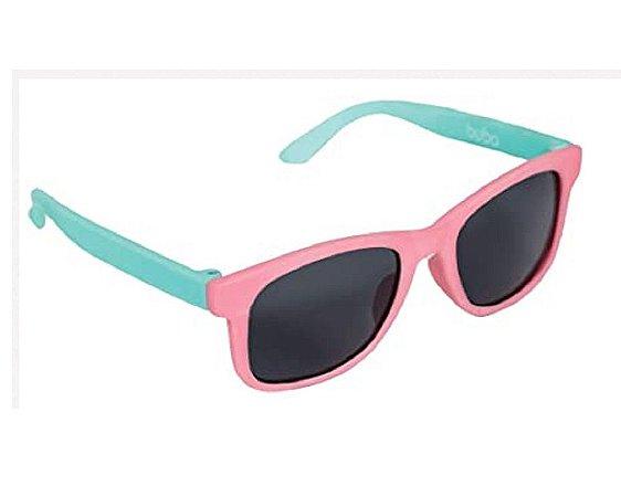 Óculos De Sol Baby Armação Flexível Pink Color - Buba