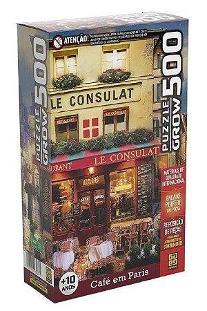 Quebra Cabeça Café Em Paris - 500 Peças - Grow