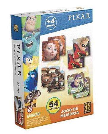 Jogo Da Memória Pixar - 27 Pares - Grow