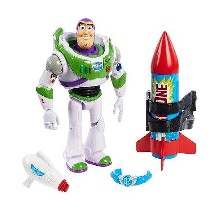 Boneco Articulado (+3 anos) - Buzz Lightyear com Acessórios - Toy Story - Mattel