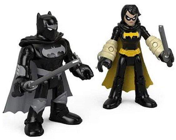 Mini Figuras DC Imaginext Black Bat e Batman - Mattel