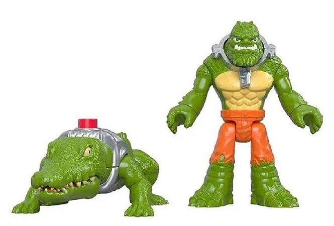 Mini Figuras DC Imaginext K Croc e Crocodilo - Mattel