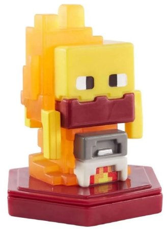 Mini Figura Minecraft Earth Brilho Da Fundição - Mattel