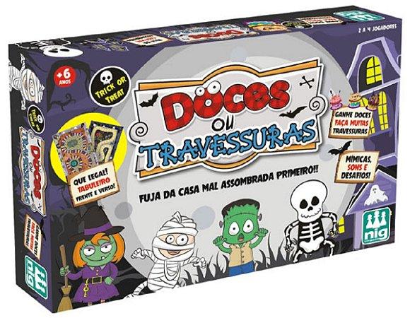 Jogo De Tabuleiro Doces Ou Travessuras - NIG Brinquedos