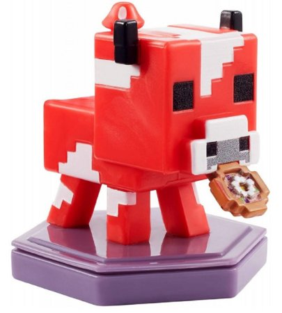 Mini-Figura - Vaca Cogumelo - Minecraft Earth - Mattel